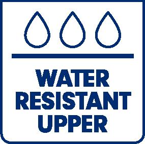 Water resistant upper